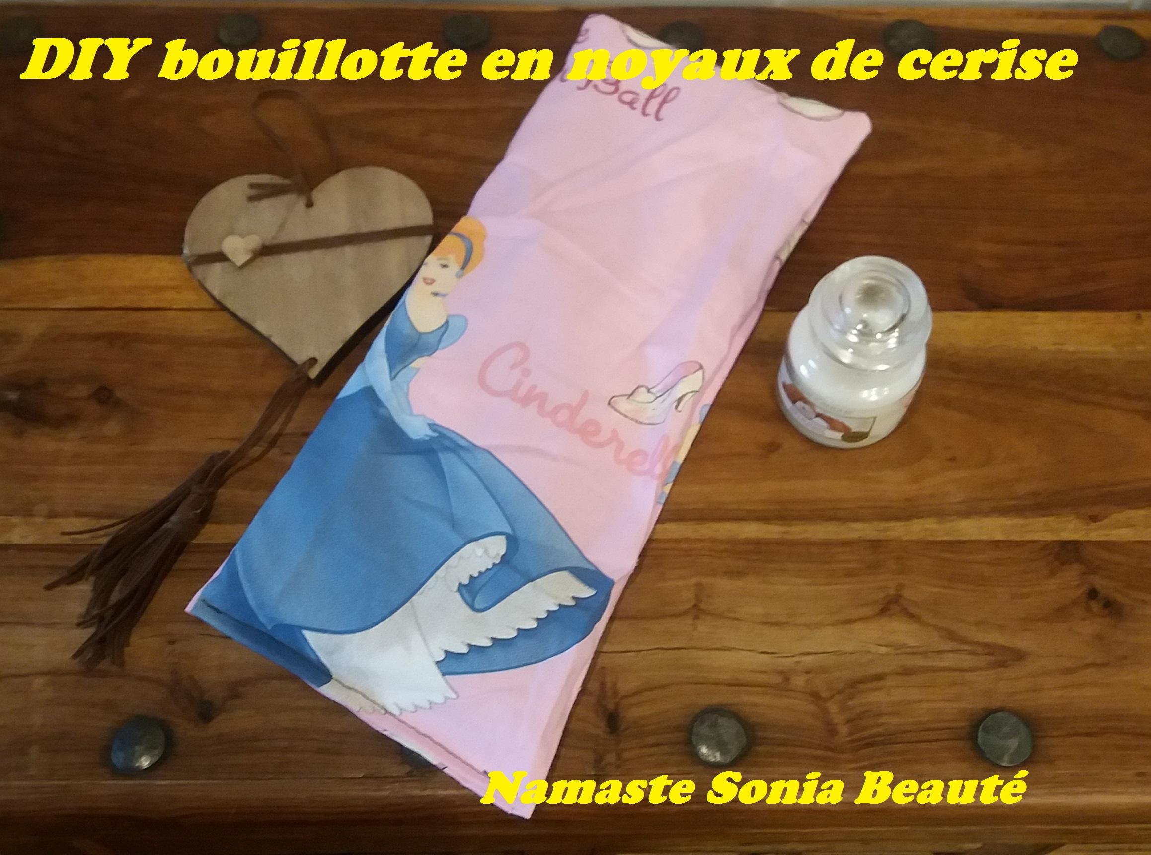 DIY Bouillotte en noyaux de cerise
